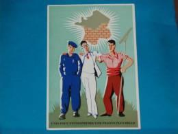Patriotique ) Série 26  -  ( Unis Pour Reconstruire Une France Plus Belle)  -EDIT - Lenoir - Weltkrieg 1939-45
