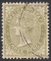 Jamaica, 3 P, 1907, Scott # 47a, Used - Jamaica (...-1961)