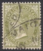 Jamaica, 3 P, 1907, Scott # 47, Used - Jamaica (...-1961)