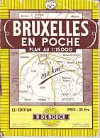 Bruxelles En Poche, Carte N°50, 1/15000éme - Planches & Plans Techniques