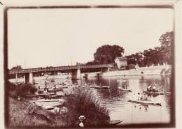 Belle Photo 1905 - BRY-SUR-MARNE - Le Pont, Pêcheurs (A17) - Nogent Sur Marne