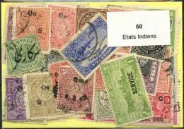50 Timbres Etats Indiens - Vrac (max 999 Timbres)