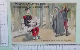 Chromo Fin 19° S. / Coricide Russe / Superiorité De La Botte Sur La Guètre / Soldat Bébé Biberon - Autres