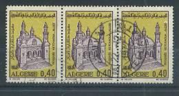 VEND TIMBRES D ´ ALGERIE N° 537 EN BANDE DE 3 + 3 ANNEAUX DE LUNE !!!! - Algerije (1962-...)