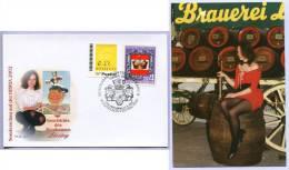 Fotokarte Sonderstempel Bier Brauerei Liesing Mit Sondermarke Und Ergänzungsmarke (334) - Biere