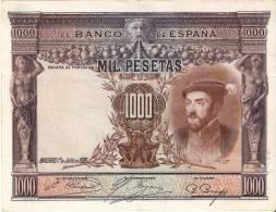 BILLETE DE ESPAÑA DE 1000 PTAS DEL AÑO 1925 DE CARLOS I CALIDAD MBC  SIN SERIE - 1000 Pesetas