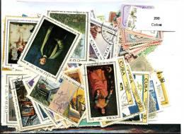 200 Timbres Cuba - Timbres