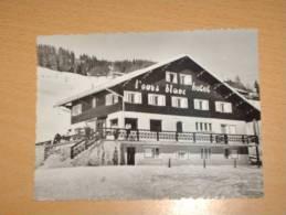 Cpa Cpsm 74 LES GETS V1950 VUE GP HOTEL DE L´ OURS BLANC ANIME Edition LOCALE - Les Gets