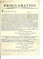 Proclamation Du Premier Consul Bonaparte  (Reproduction D´affiche De  La Révolution Française 1802) - Events