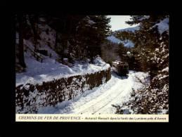 04 - ANNOT - Chemins De Fer De Provence - Autorail Renault Dans La Fôret Des Lunières - Locomotive - Train - Gare - Autres Communes