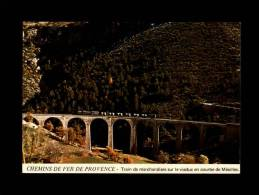 04 - MEAILLES - Chemins De Fer De Provence - Train De Marchandises Sur Le Viaduc En Courbe De Méailles - Train - Autres Communes