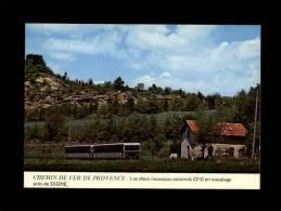 04 - DIGNE - Chemins De Fer De Provence - Les Deux Nouveaux Autorails CFD En Couplage  - Locomotive - Train - Gare - Digne