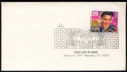 N° 2161 Des U.S.A. Sur Enveloppe 1er Jour - Elvis Presley