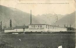 31  LUCHON  LE MASSIF DE VENASQUE ET LA CHOCOLATERIE YO -YO (CHOCOLAT CUIT) Jamais Vue Sur Delcampe - Luchon