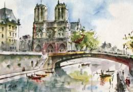 PARIS NOTRE DAME EGLISE ST GERMAIN 2 CARTES - Notre Dame De Paris