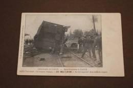 Catastrophe Train Contich 1908 Wagon Dégagé Ontlaste Wagon Grote Treinramp Kontich - Kontich