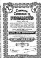 Compagnie Continentale Du Pégamoïd, Bruxelles - Part Sociale - Aandelen