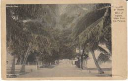 Agana Guam,  View From Palace, On Postally Used C1910s Vintage Postcard - Guam
