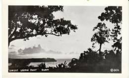 Guam, Saupon Point, Sunset On Beach On C1940s/50s Vintage Real Photo Postcard - Guam