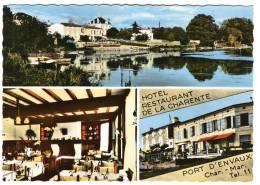 PORT D'ENVAUX   - HOTEL RESTAURANT De La CHARENTE.  CPM - France