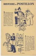 Buvard Histoire Du Postillon 3+4 Jaune - Buvards, Protège-cahiers Illustrés