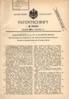 Original Patentschrift - Kriegstechnik GmbH In Halensee - Berlin , 1905 , Regelung Von Explosionskraftmaschinen !!! - Dokumente