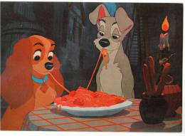 DISNEY OTHER WALT DISNEY CARTOON CHARACTERS LADY AND THE TRAMP Nr. 108-3067 OLD POSTCARD - Disney