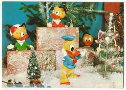DISNEY OTHER WALT DISNEY CARTOON CHARACTERS DOLLS AS DISNEY CHARACTERS DUCKS Nr. 110 OLD POSTCARD - Disney