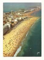 Cp, 34, Palavas-les-Flots, L'immensité De Ses Plage, Vue Aérienne, Voyagée 1969 - Palavas Les Flots