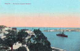 MALTA, ENTRANCE GRAND HARBOUR, 1914 - Malta