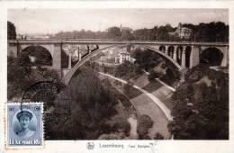 LUXEMBOURG, Pont Adolphe, 1931, Stempel Limpertsberg, Schöne Frankierung - Ansichtskarten