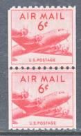 U.S. C 41 X 2  LINE PAIR  Fault  ** - Air Mail