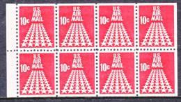 U.S. C 72b  BOOKLET Pane    **   STARS - Air Mail
