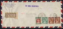 SIAM - THAILANDE / 1953 LETTRE RECOMMANDEE AVION POUR L ALLEMAGNE (ref 3666) - Siam