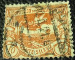 Upper Silesia 1920 Coal Mine 10pf - Used - Abstimmungsgebiete