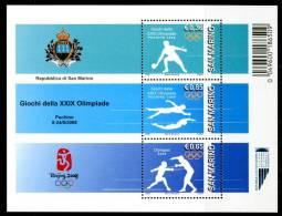 """SAN MARINO 2008** - Giochi Olimpici """"Pechino 2008"""" - Block MNH Come Da Scansione - Verano 2008: Pékin"""