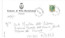 VILLA BARTOLOMEA  37010  PROV. VERONA  - ANNO 1979  - LS - STORIA POSTALE DEI COMUNI D´ITALIA - POSTAL HISTORY - Affrancature Meccaniche Rosse (EMA)