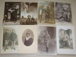 Lot De 8 CPA Militaria Cartes Photos Personnage Militaire - Guerre 1914-18