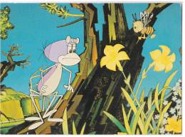 DISNEY OTHER CARTOON CHARACTERS FROG AND A BEE OLD POSTCARD - Other