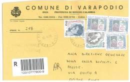 VARAPODIO  89010  PROV. REGGIO CALABRIA  - ANNO 2005  - R  - STORIA POSTALE DEI COMUNI D´ITALIA - POSTAL HISTORY - Affrancature Meccaniche Rosse (EMA)