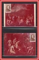 """2 CM De 1965 N° YT 1443 """" NICOLAS POUSSIN """". Etat : Voir Scan + Prix Dégressif. - Maximum Cards"""