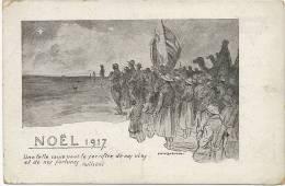 Guerre 1914 WWI   Noel 1917 Par David Burnand Americains Wilson YMCA - Patriottiche