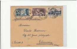 DC48-1938 Envel. A La SUISSE (CHAMPERY)-VALOIS)-f.1,75 +75 Versailles+f.1,50 Exposition Internationale+f.6525 Pour Sauve - 1921-1960: Moderne