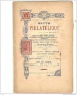 BELGIQUE, Revue PHILATELIQUE N°10 1896, éditeur MAURICE BELIN. - Français (jusque 1940)