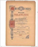 BELGIQUE, Revue PHILATELIQUE N°8-9 1896, éditeur MAURICE BELIN. - Français (jusque 1940)