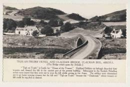 Tich An Truish Hotel And Clachan Bridge, Clachan Seil, Argyll - RPPC - Argyllshire