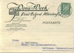 PERFIN FIRMENLOCHUNG 1926 PORA WERK PAUL SCHROT ALLENDORF A.d.WERRA - Deutschland