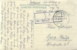 Feldpost 1.WK  EISENB.-BETR.-KOMP. 69 Absender Nr. 89  1918 - Deutschland