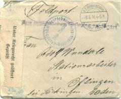 Feldpost 1.WK  EISENBAHN-BETRIEBSAMT RADSIWILISCHKI Mit Zensur 1916 (Bahnhof Linkajcie) - Deutschland