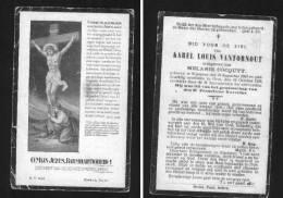 Wingene 1860 Karel Vantornout Bidprentje - Imágenes Religiosas
